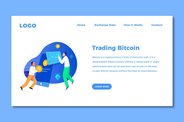 Cover Image For Bitcoin Landing Page Template
