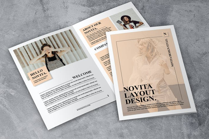 Thumbnail for Novita - Elegant Fashion Brochure 12 pages