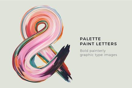 Palette Paint Letters