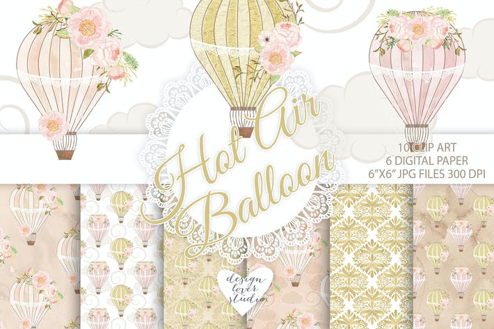 Thumbnail for Hot air balloon peony design
