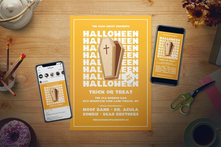 Simple Halloween flyer design