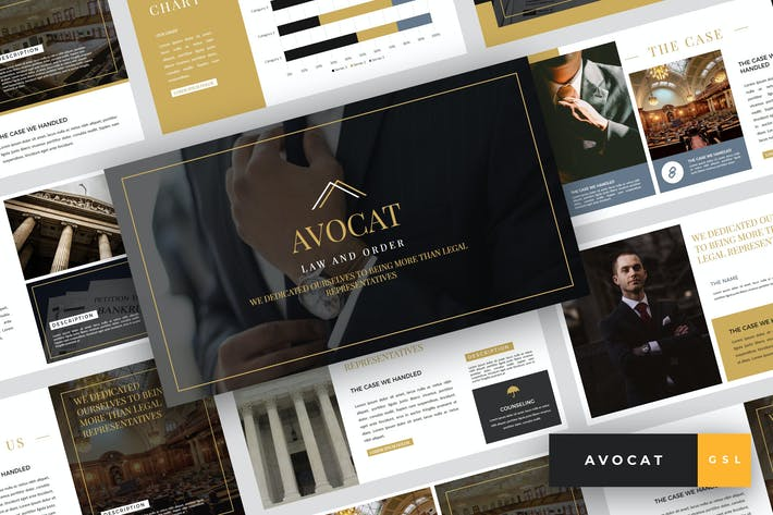 Thumbnail for Avocat - Lawyer Google Slides Template