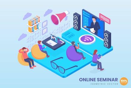 Isometric Online Seminar Concept