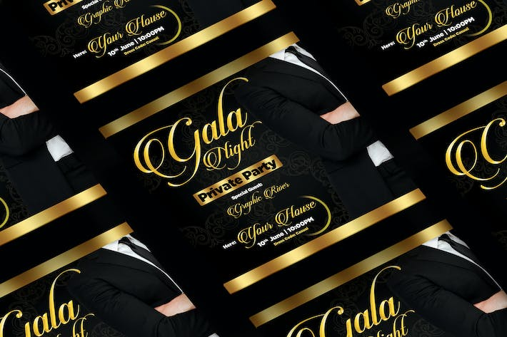 Thumbnail for Gala Night Square Flyer & Instagram Post