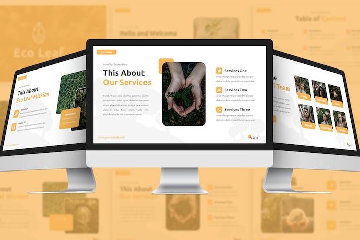 Eco Leaf - Среда Google Слайды Шаблон