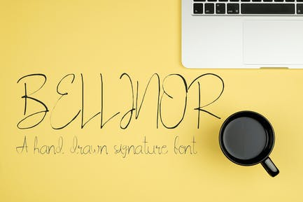 Bellinor Handmade Signature Font