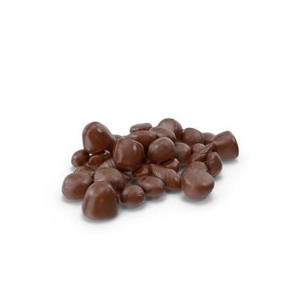 Small Pile of Almond Chocolate Candy