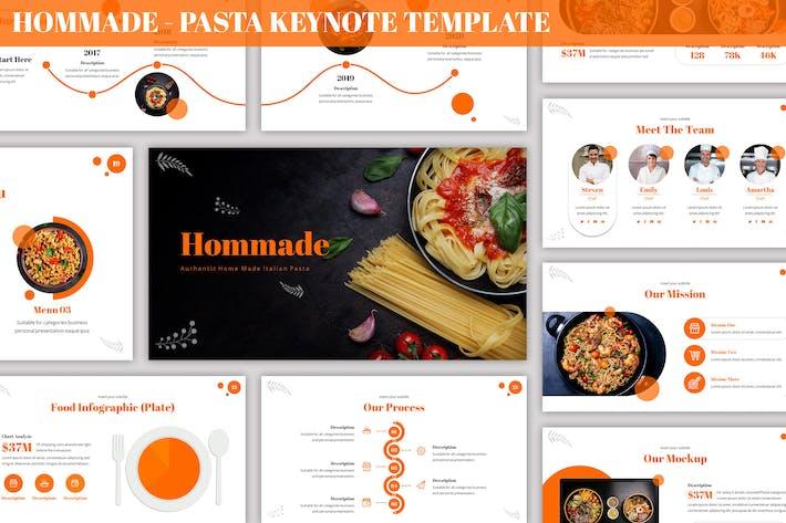 Hommade - Pasta Keynote Template