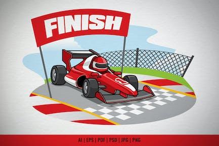 Fórmula Racing Car llega a la línea de meta