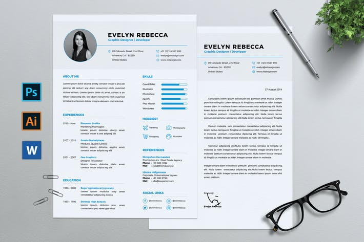Thumbnail for Minimalist CV Resume Vol. 01