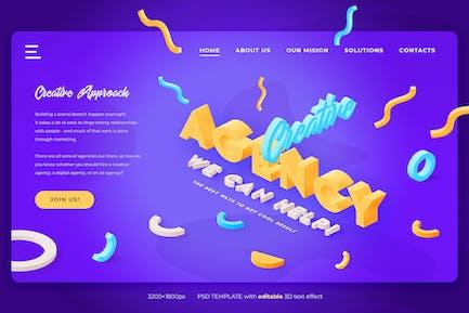 Creative Agency - Landing Page Header