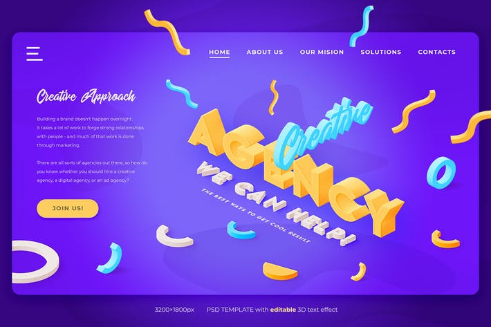 Creative Agency - Landing Page Header