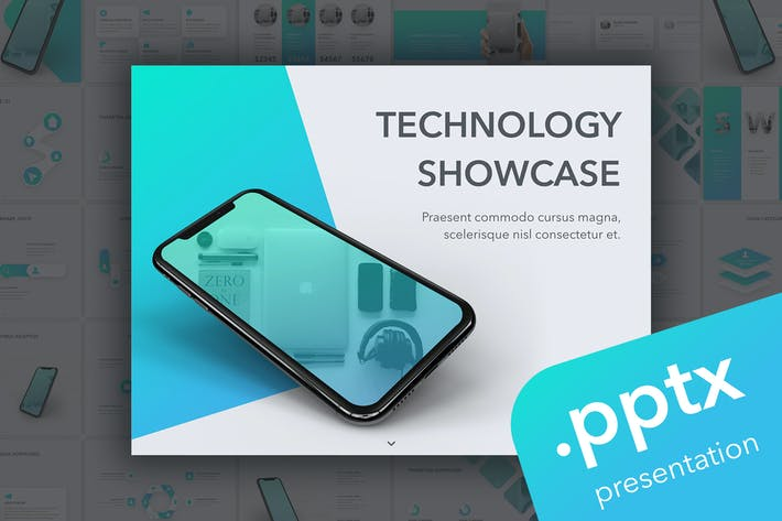 Thumbnail for Technology Showcase PowerPoint Template
