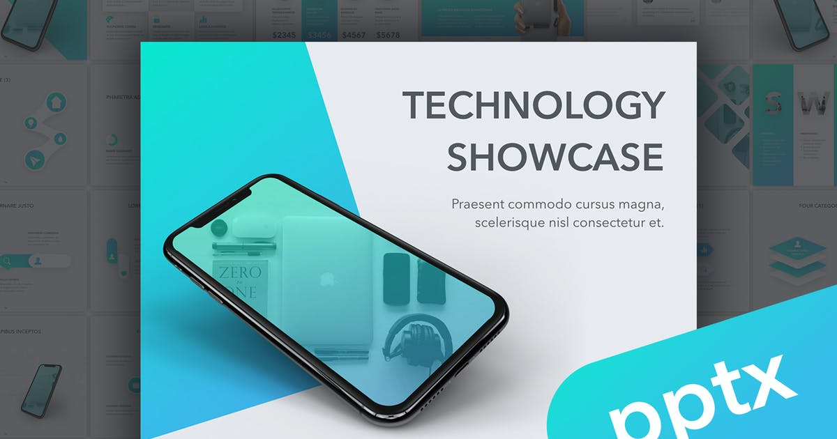 Technology Showcase PowerPoint Template by Unknow
