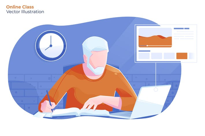 Thumbnail for Online Class - Vector Illustration