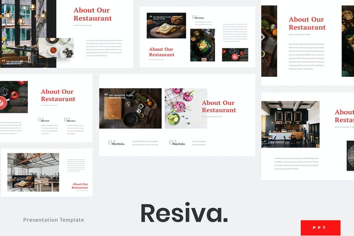 Thumbnail for Resiva - Restaurant Powerpoint Template