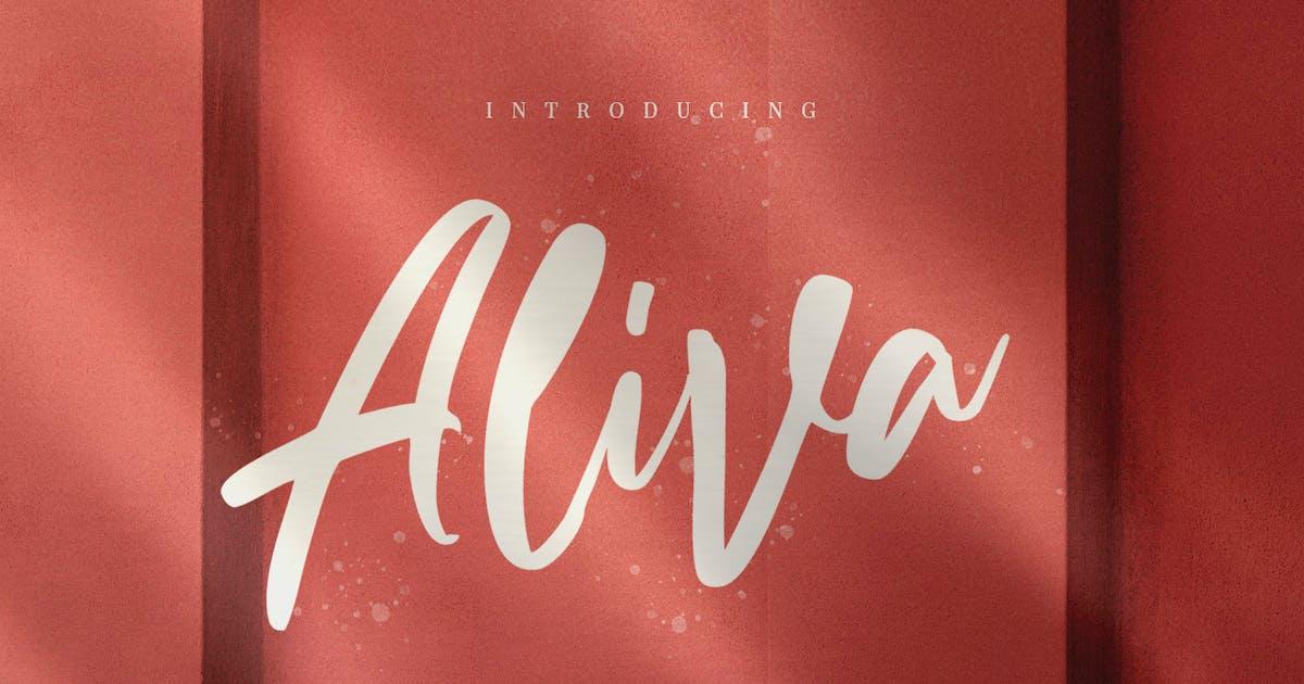 Download Aliva Brush Script Irrigular Signature by dirtylinestudio