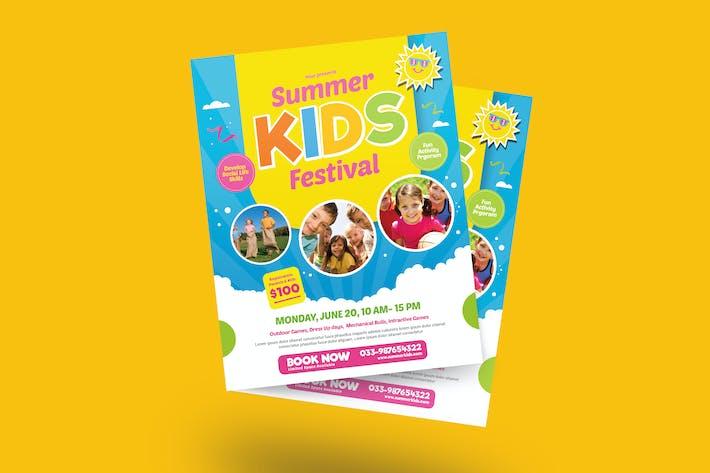 Thumbnail for Summer Kids Camp Festival Flyer