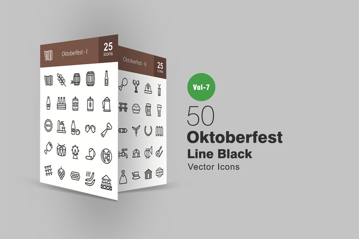 Thumbnail for 50 Oktoberfest Line Icons