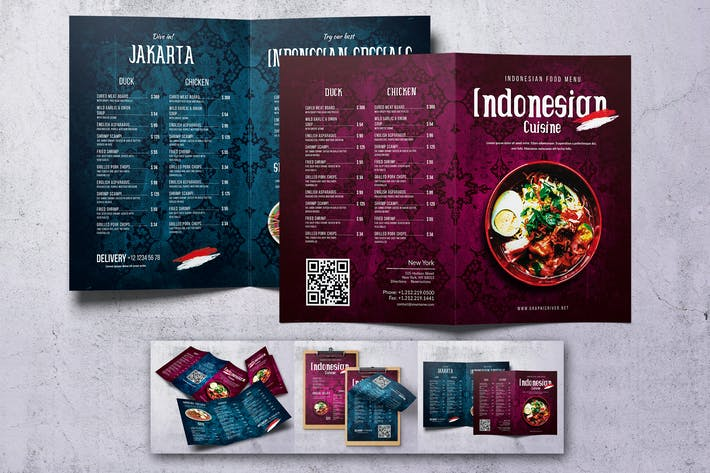 Indonesian Food Menu Bundle