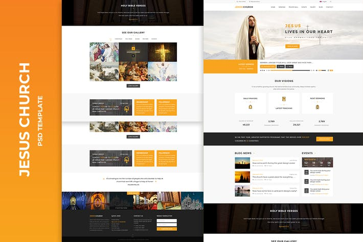 Cover Image For JESUS CHURCH | PSD template