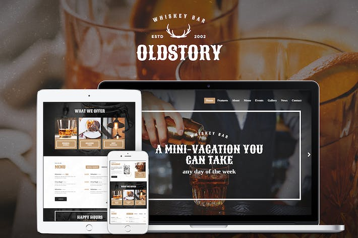 Thumbnail for OldStory - Whisky Bar | Pub | Restaurant WP Theme