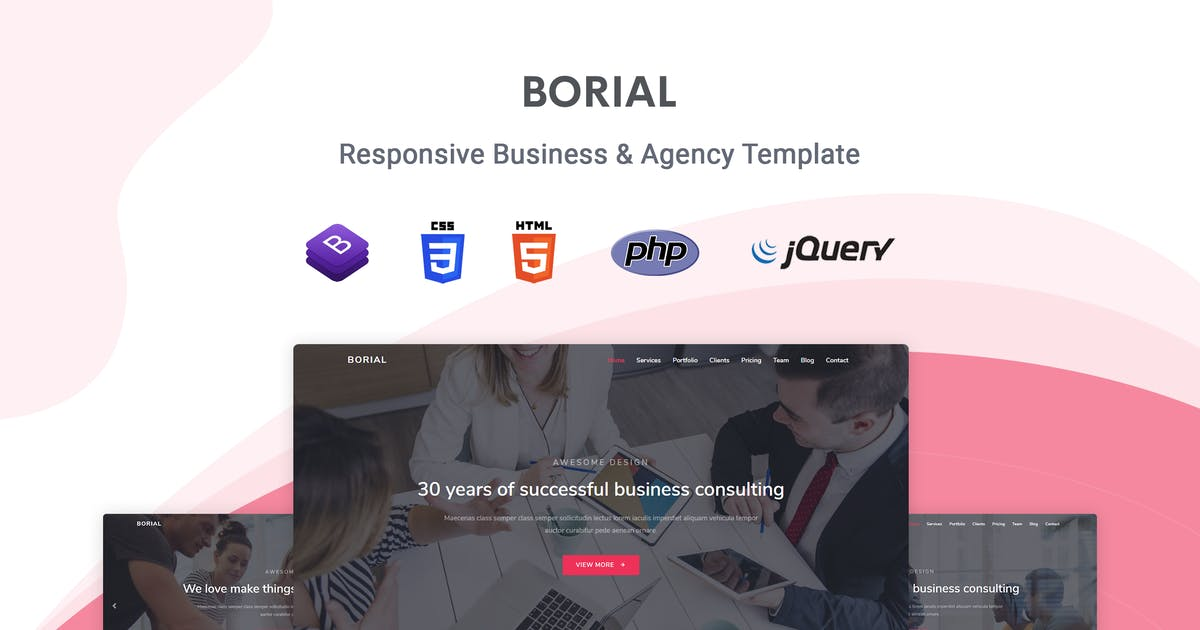 Download Borial - Bootstrap 4 Business & Agency Template by themesdesign