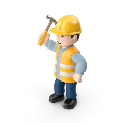 Arbeiter mit Hammer