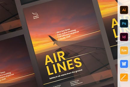 Airlines Aviation Poster
