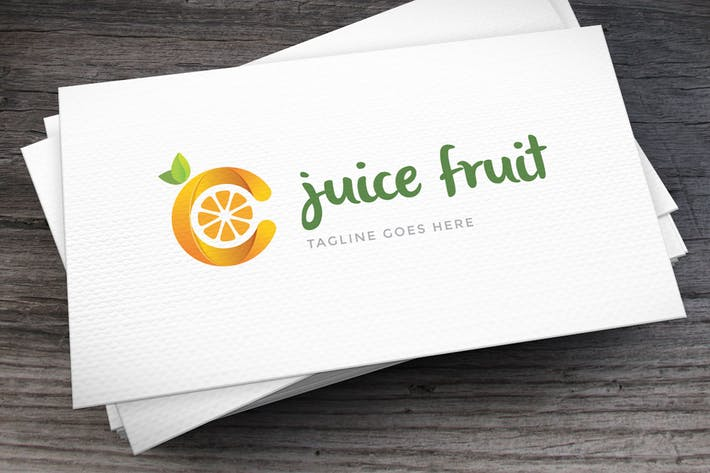 Letter C Fruit Logo Template