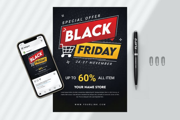 Black Friday Flyer and Banner Template