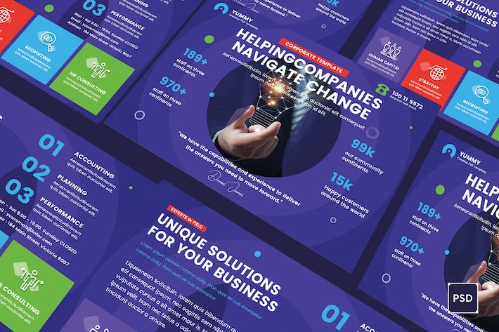Thumbnail for Business,Corporate A5 Flyer PSD Template