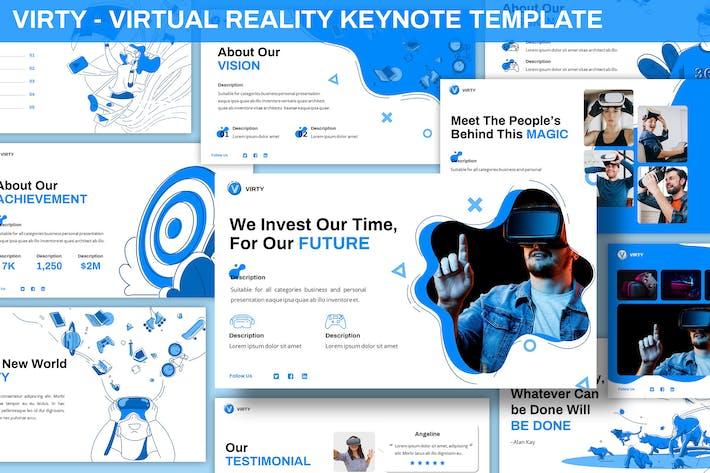 Thumbnail for Virty - Virtual Reality Keynote Vorlage