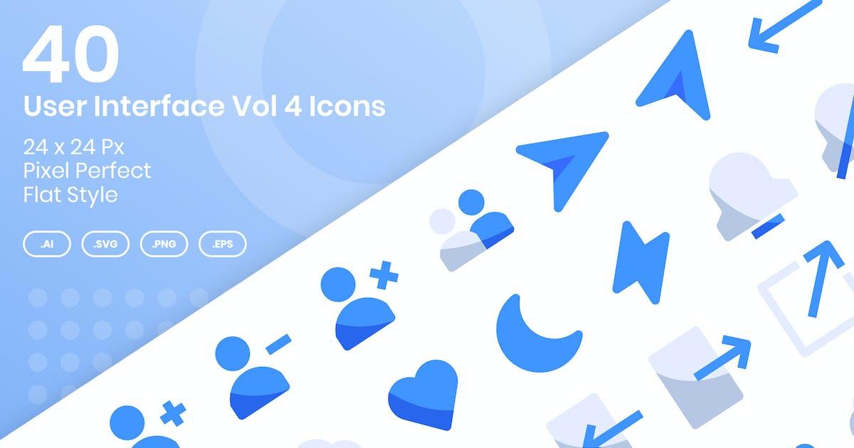 Download 40 User Interface Vol 4 Icons Set - Flat by kmgdesignid