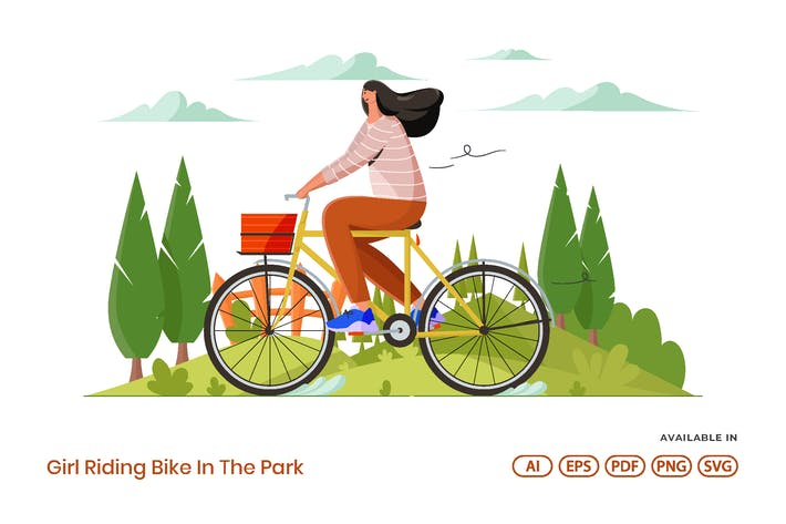 Thumbnail for Girl Riding Bike In The Park