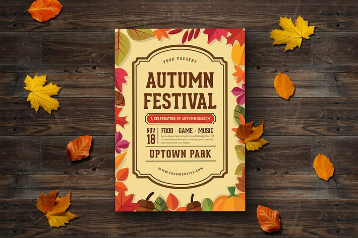 Cover Image For Autumn Festival Flyer
