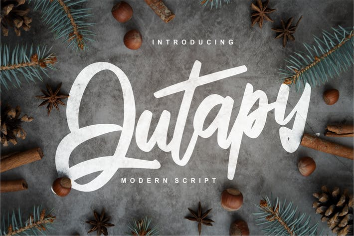 Thumbnail for Qutapy   Modern Script Font