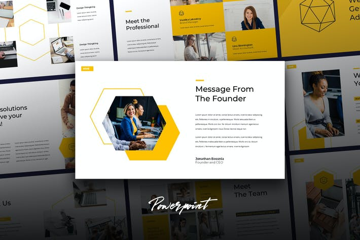Thumbnail for HIVE - Modern Business Powerpoint Template