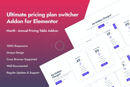 Ultimate Pricing Plan Switcher Addon for Elementor