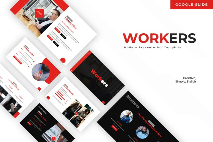 Thumbnail for Workers - Google Slide Template