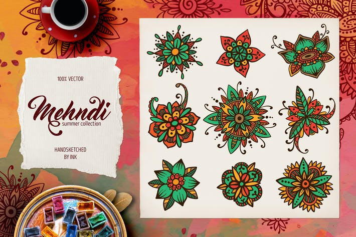 Thumbnail for Mehndi Summer Collection 02