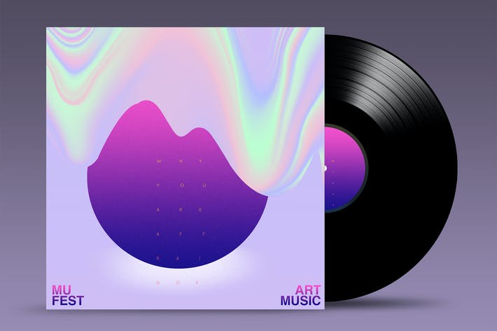Thumbnail for Vinyl Mock Up Template