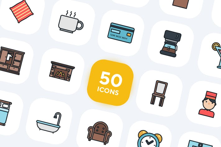 Thumbnail for 50 Hotel Services Icons