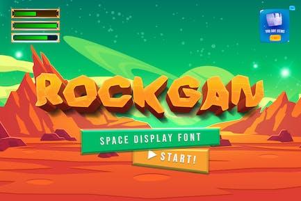 Rockgan Space Game Display Fuente
