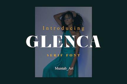 Glenca | Fuente Con serifa moderna