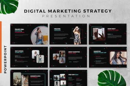 Digital Marketing Strategy Powerpoint Slide