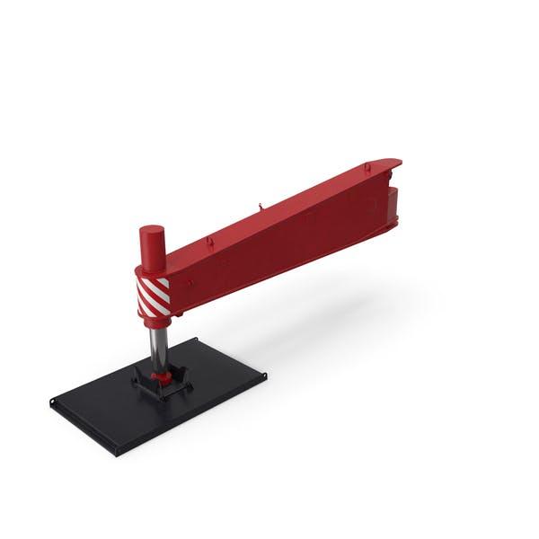 Кран Outrigger Большой Красный