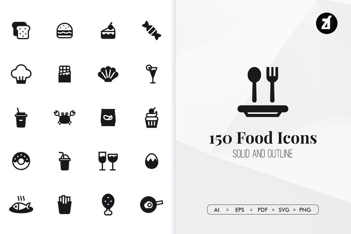 Thumbnail for 150 Food minimal icons