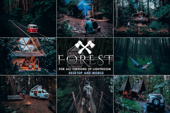 Thumbnail for Forest Moody-Travel Presets for Mobile and Desktop