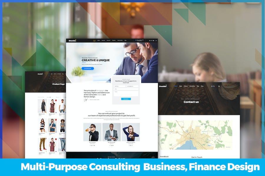 Multi-Purpose Consulting  Business, Finance Design